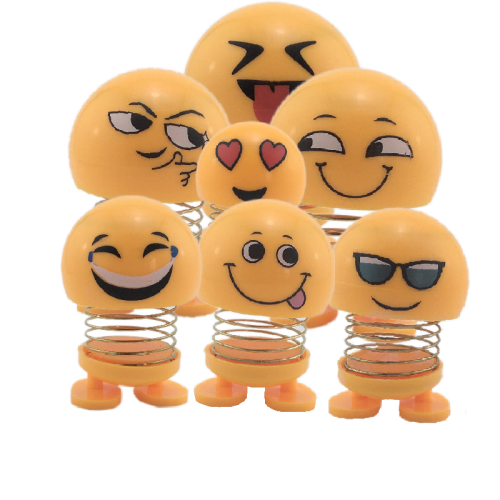 پک 7 عددی عروسک ایموجی فنری